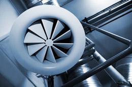 Professionelle Belüftungssysteme sorgen für Frischluft im Gebäude, den ganzen Tag über.